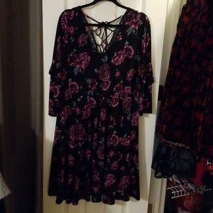 3/4 sleeve torrid size 2x floral dress
